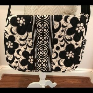 Vera Bradley black and white extra large satchel